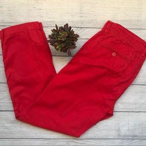 J.Crew Women's Red Chino Pants